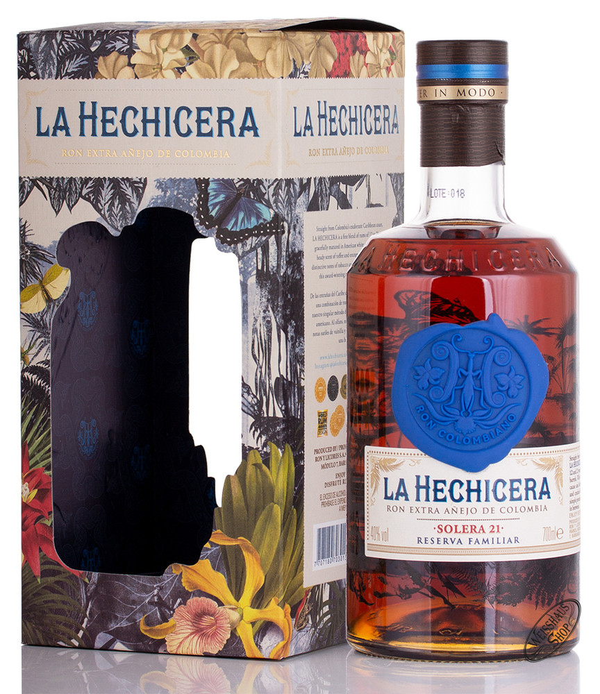 La Hechicera Fine Aged Rum from Colombia 40% vol. 0,70l