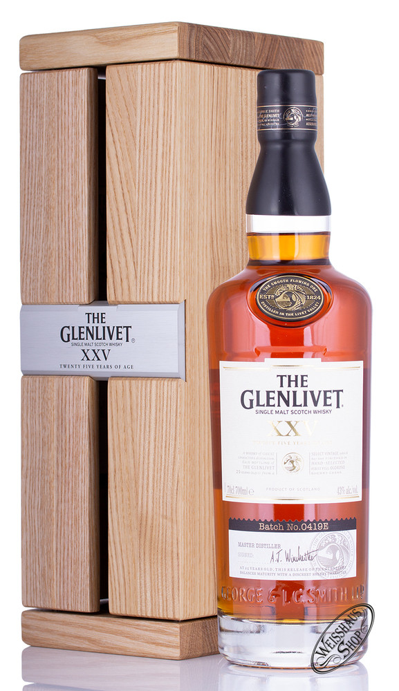 The Glenlivet 25 YO Single Malt Whisky 43% vol. 0,70l