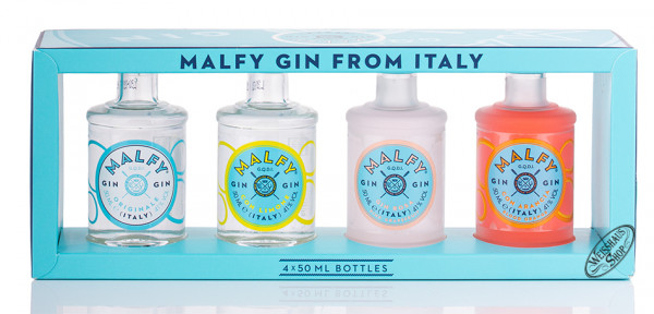 Malfy Gin Miniatur Geschenk-Set 41% vol. 4 x 0,05l