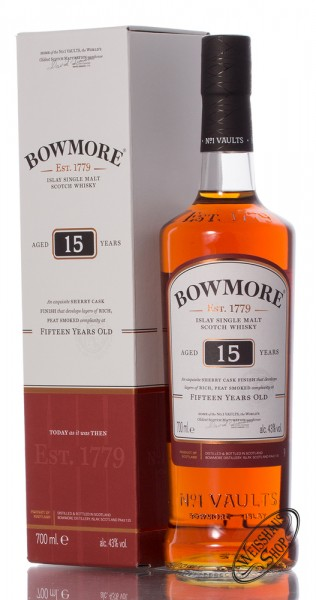 Bowmore 15 YO Islay Whisky 43% vol. 0,70l