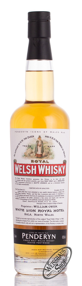 Penderyn Royal Welsh Whisky Icons of Wales Nr. 6 43% vol. 0,70l