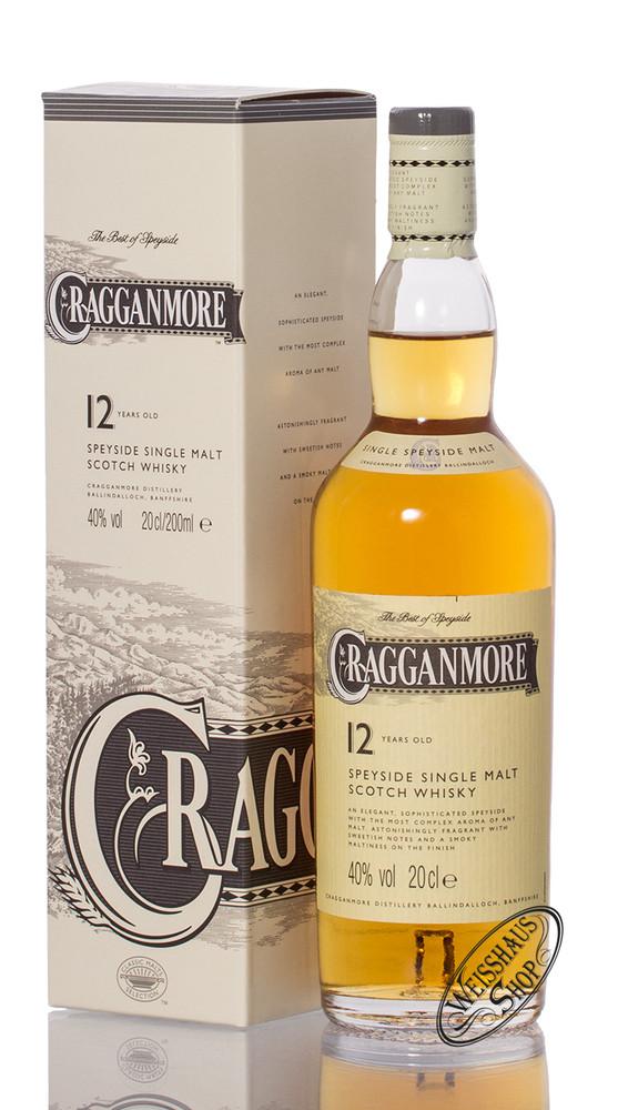 Cragganmore 12 YO Single Malt Whisky 40% vol. 0,20l