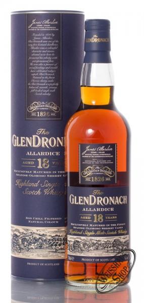 Glendronach 18 YO Allardice Oloroso Whisky 46% vol. 0,70l