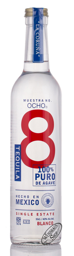 Tequila Ocho OCHO La Coruna Blanco Tequila 40% vol. 0,50l