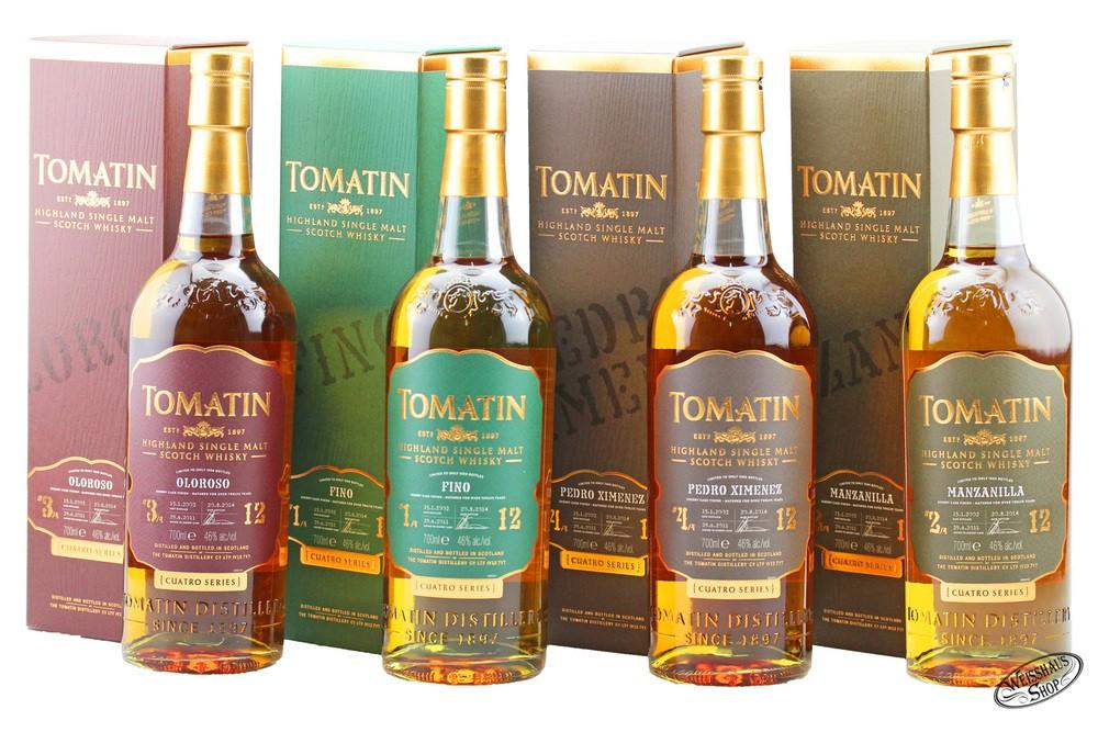 Tomatin Cuatro 4 x Whisky 46% vol. 0,70l
