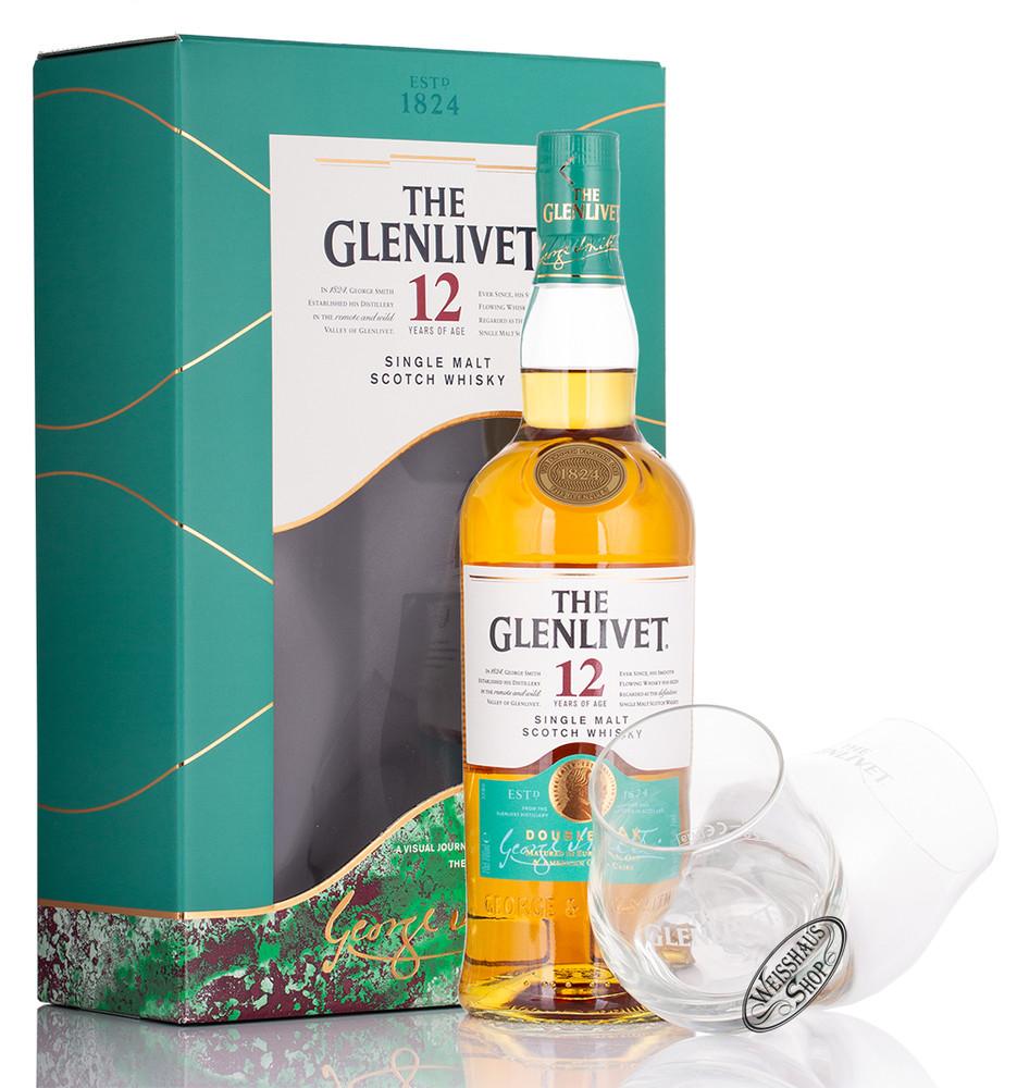 The Glenlivet 12 YO Whisky Geschenk-Set 40% vol. 0,70l