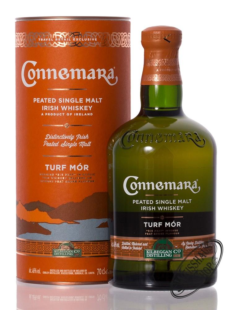 Connemara Turf Mor Peated Single Malt Irish Whiskey 46% vol. 0,70l