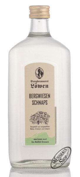 Bergbrennerei Löwen Bergwiesen Schnaps 40% vol. 0,50l
