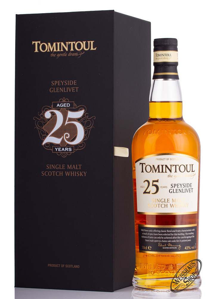 Tomintoul 25 YO Whisky 43% vol. 0,70l