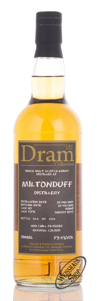 Morrison & MacKay Ltd. Miltonduff C&S Dram Collection Whisky 59,4% vol. 0,70l