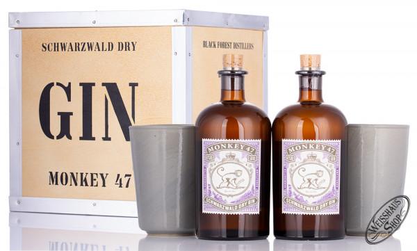 Monkey 47 Dry Gin Geschenk-Set 47% vol. 1,0l