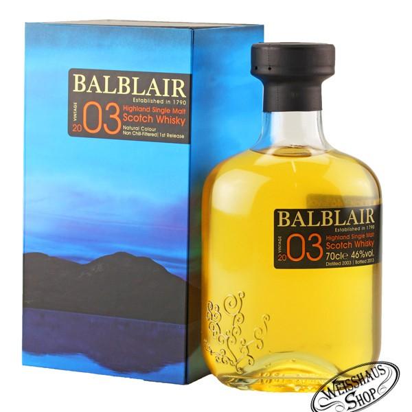 Balblair Vintage 2003 Highland Single Malt Whisky 46% vol. 0,70l