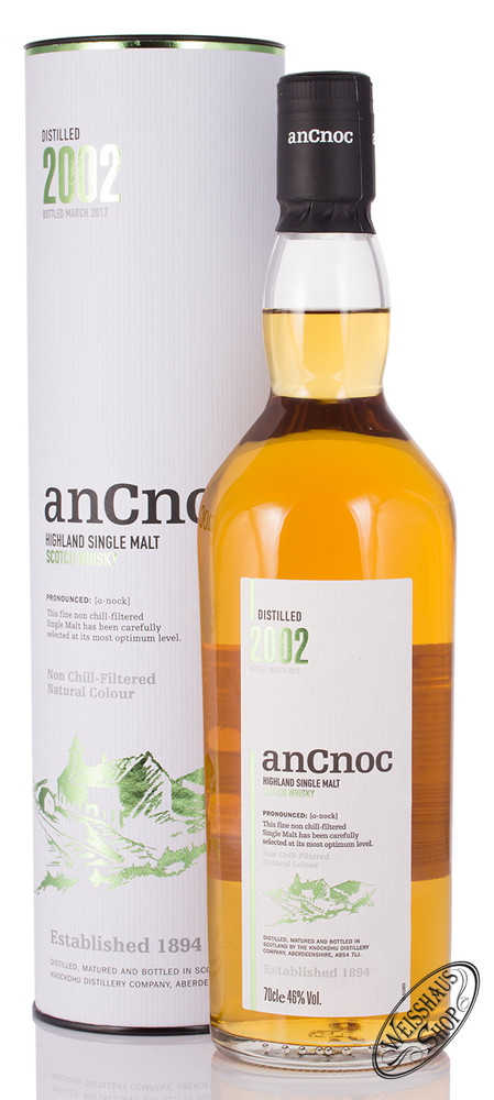 AnCnoc Vintage 2002 Whisky 46% vol. 0,70l