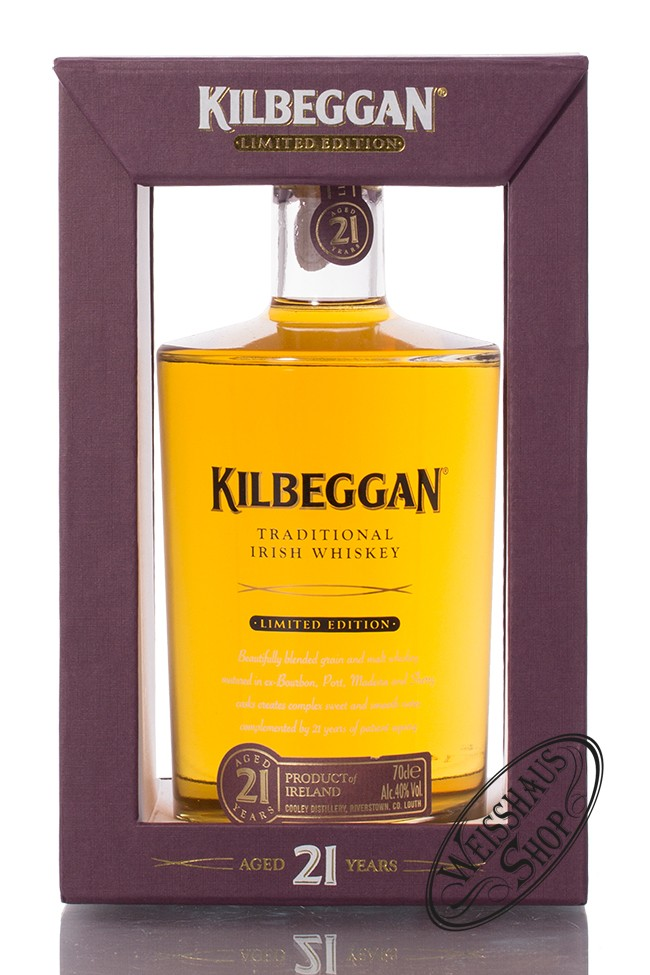 Kilbeggan 21 YO Irish Whiskey 40% vol. 0,70l