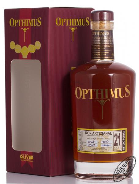 Opthimus 21 Anos Rum 38% vol. 0,70l