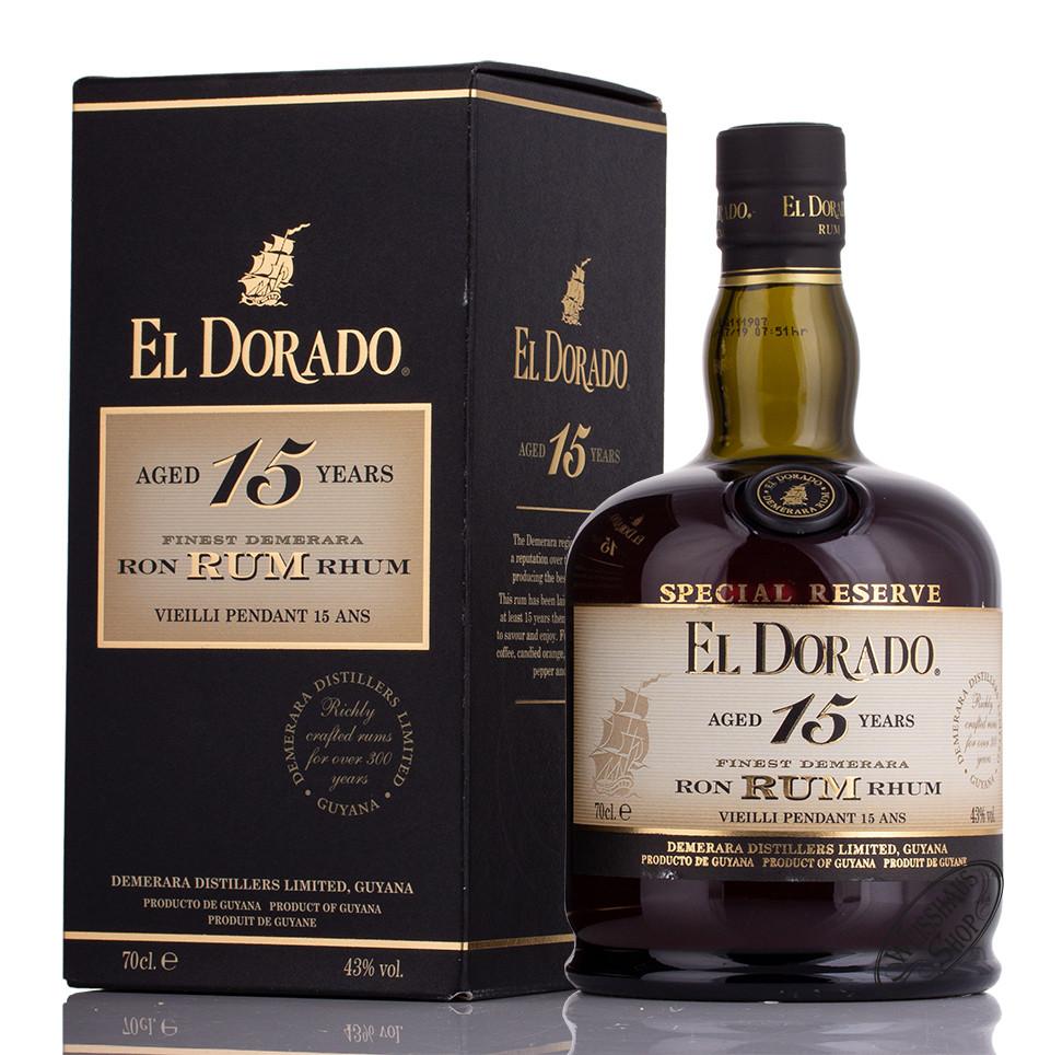 El Dorado Rum 15 YO 43% vol. 0,70l