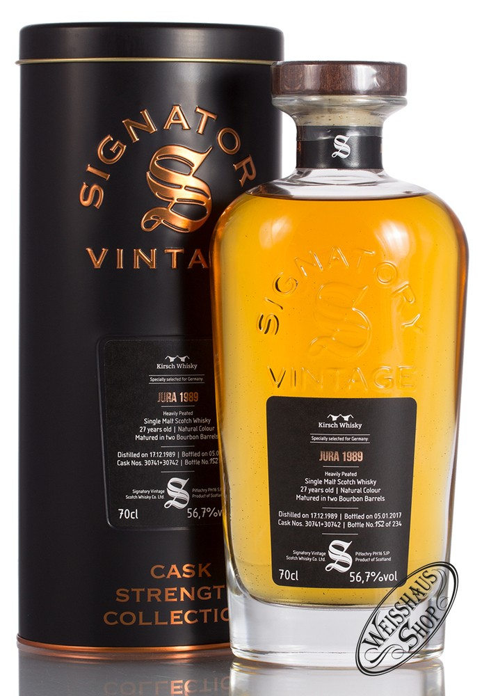 Isle Of Jura Vintage 1989 Signatory Whisky 56,7% vol. 0,70l