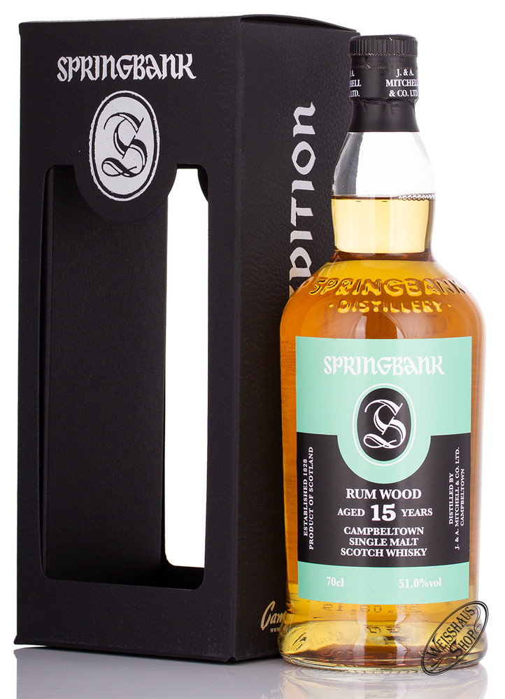Springbank 15 YO Rum Wood Limited Release Whisky 51% vol. 0,70l