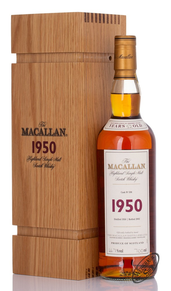 Macallan Fine & Rare 1950 Cask #598 Whisky 46,7% vol. 0,70l