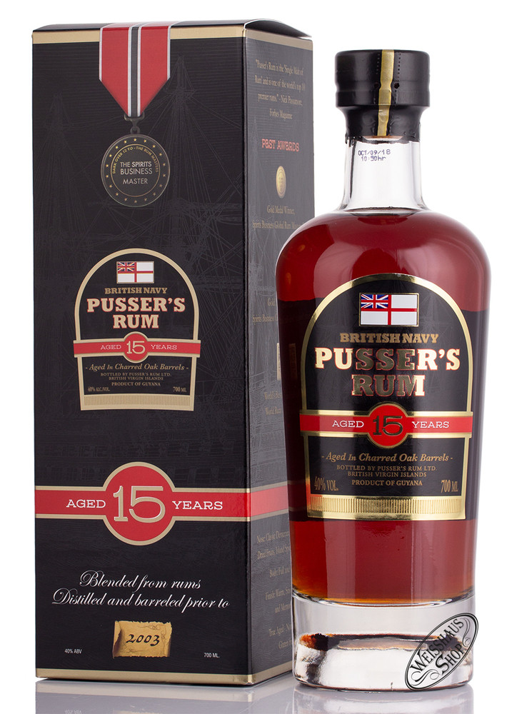 Pusser's Navy Rum Nelson's Blood 15 YO Rum 40% vol. 0,70l