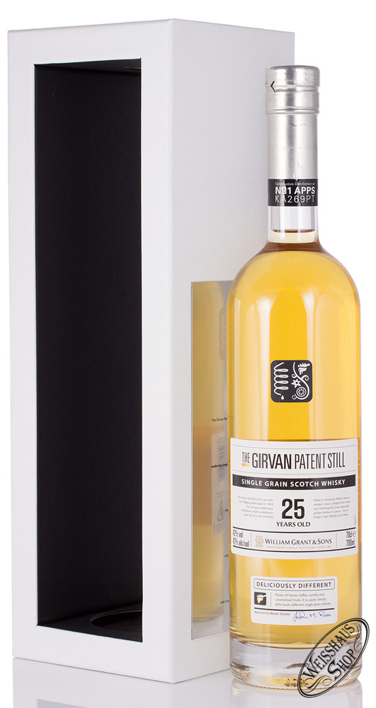 William Grant & Sons The Girvan Patent Still 25 YO Single Grain Whisky 42% vol. 0,70l