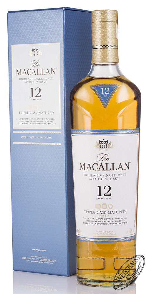 Macallan 12 YO Triple Cask Matured Triologie Whisky 40% vol. 0,70l
