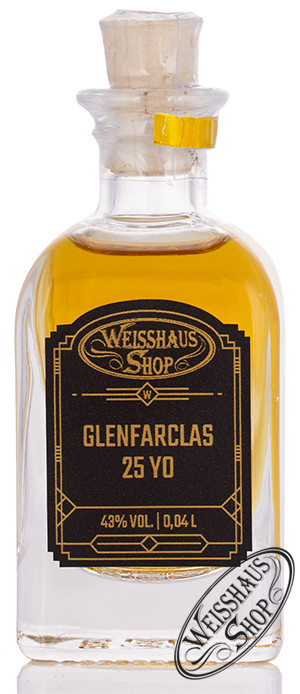 Glenfarclas 25 YO Single Malt Whisky 43% vol. 0,04l Weisshaus Sample