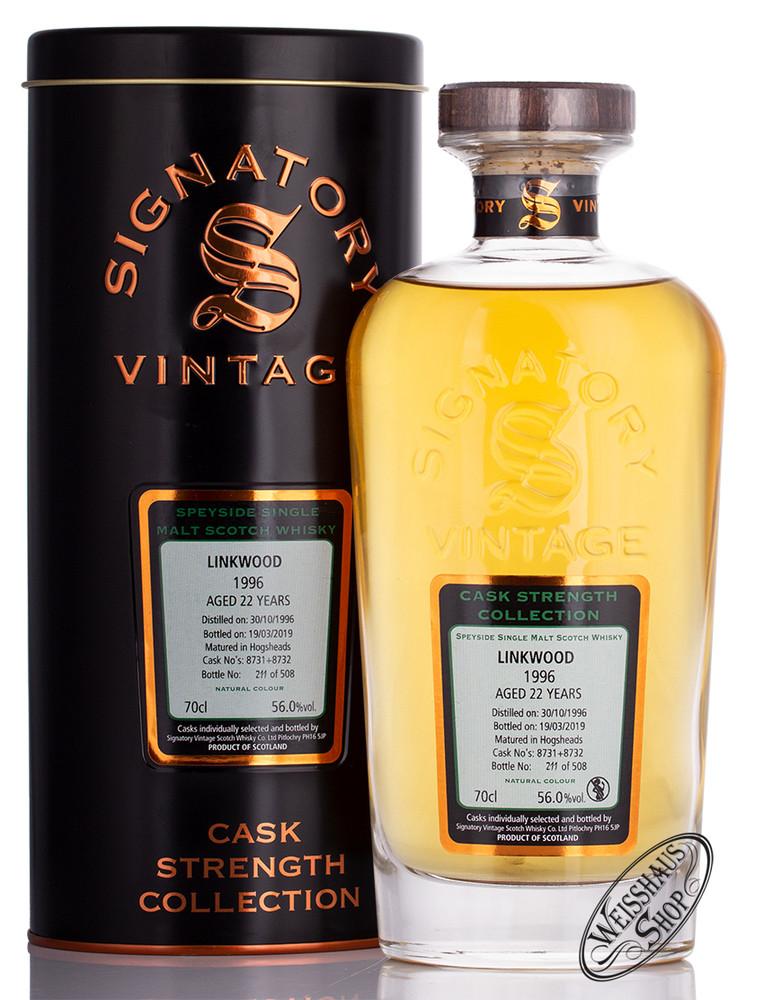 Linkwood Vintage 1996 Signatory Whisky 56% vol. 0,70l
