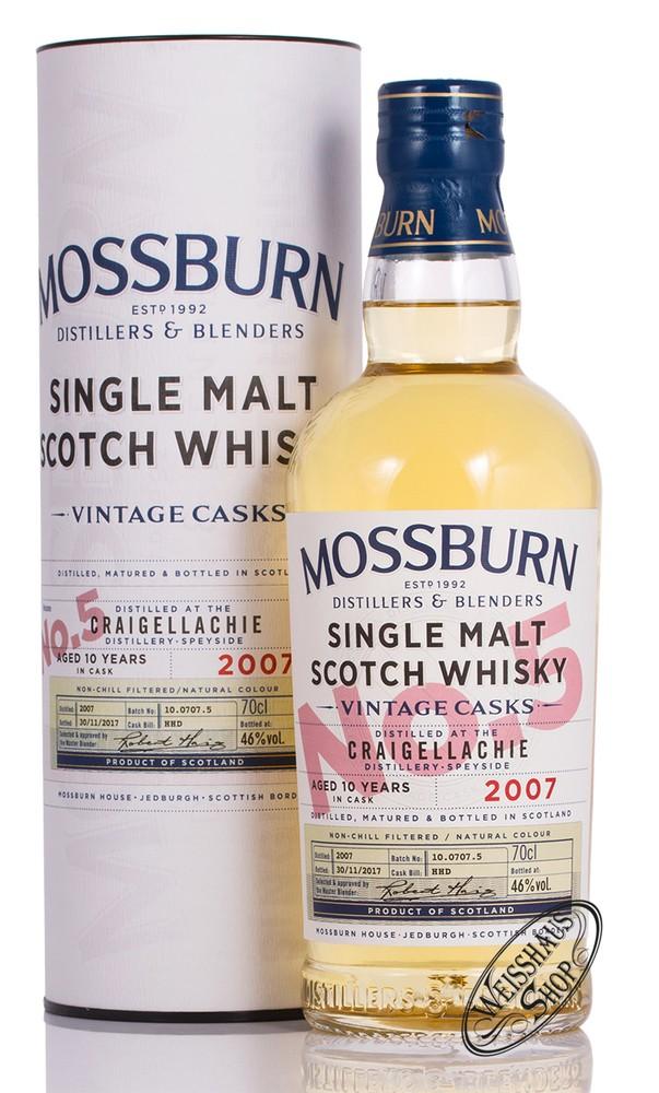Mossburn Craigellachie 10 YO Vintage Cask 5 Whisky 46% vol. 0,70l
