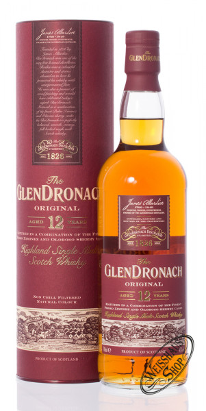 Glendronach 12 YO Original Whisky 43% vol. 0,70l
