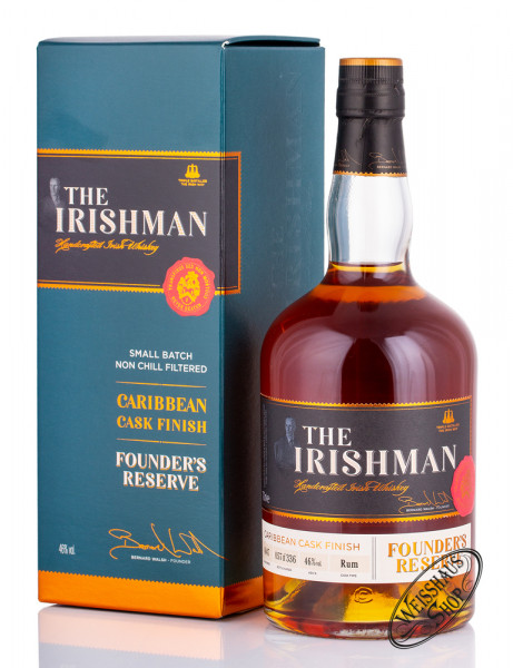 The Irishman Founders Reserve Caribbean Cask Finish Whiskey 46% vol. 0,70l