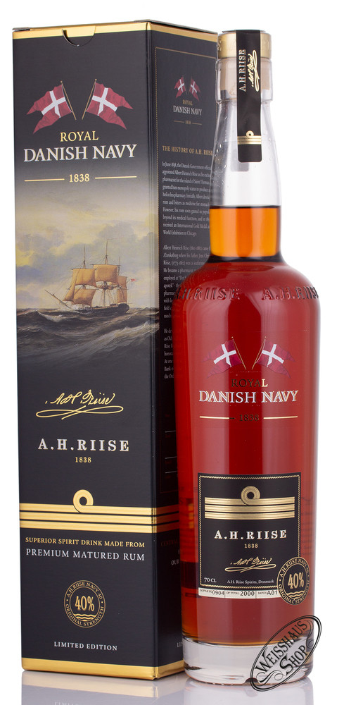 A.H. Riise Danish Navy Rum 40% vol. 0,70l