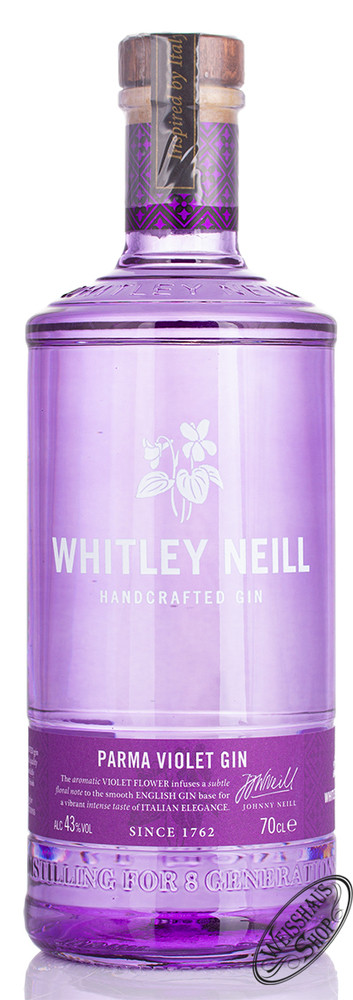 Whitley Neill Parma Violet Gin 43% vol. 0,70l
