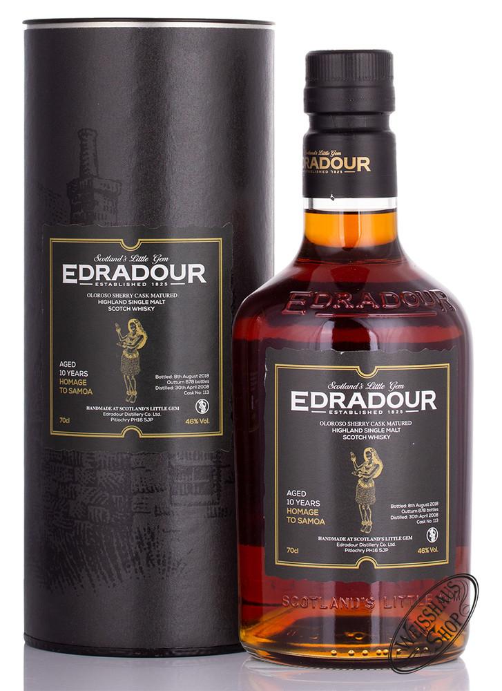 Edradour 10 YO Edition Samoa Whisky 46% vol. 0,70l