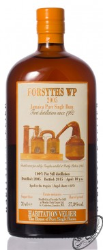 Habitation Velier Forsyths WP 2005 Rum 57,8% vol. 0,70l