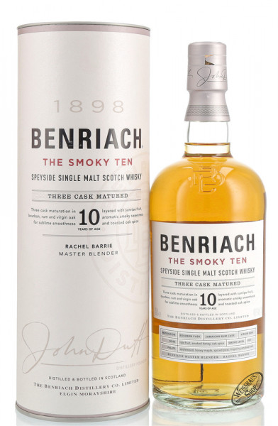 BenRiach The Smoky Ten 10 YO Whisky 46% vol. 0,70l
