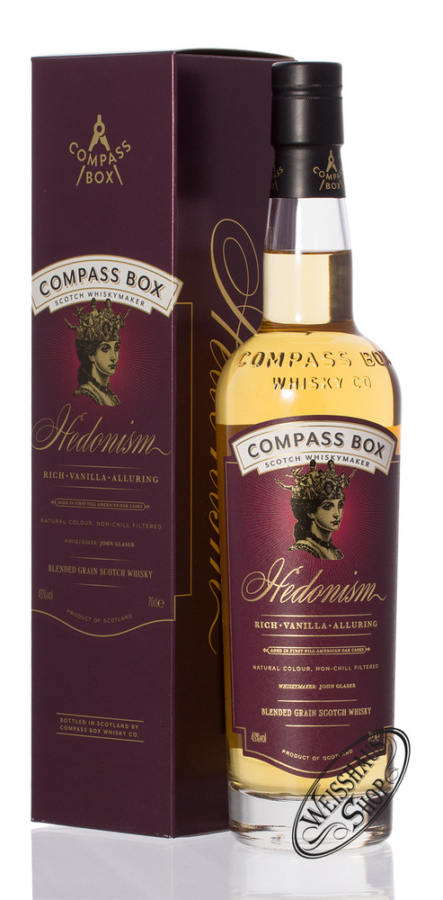 Compass Box Hedonism Blended Whisky 43% vol. 0,70l