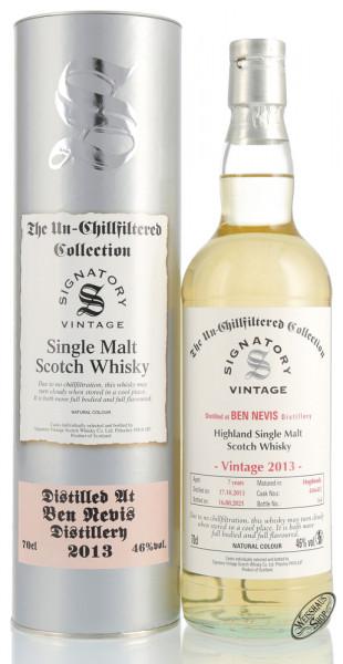 Ben Nevis Vintage 2013 Signatory Un-Chillfiltered Whisky 46% vol. 0,70l