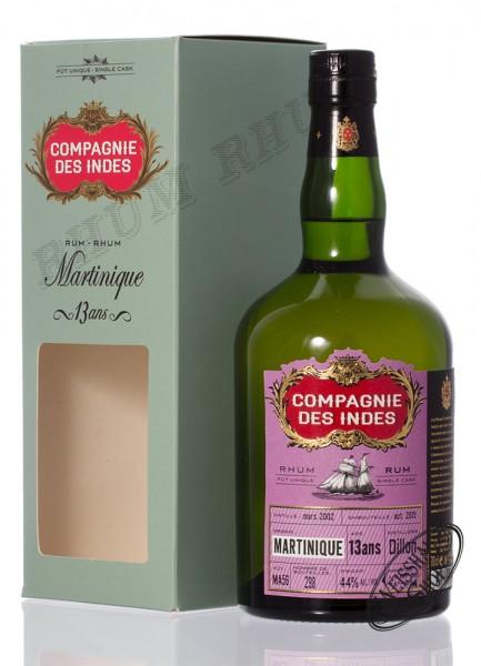 Compagnie des Indes Martinique 13 YO Single Cask Rum 44% vol. 0,70l
