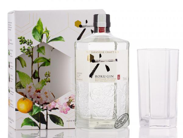 Roku Japanese Craft Gin Geschenk-Set 43% vol. 0,70l