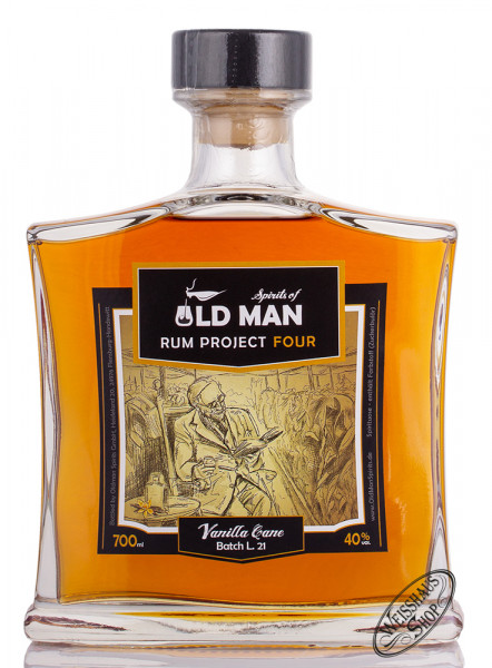 Old Man Project Four Vanille Cane Spirit 40% vol. 0,70l