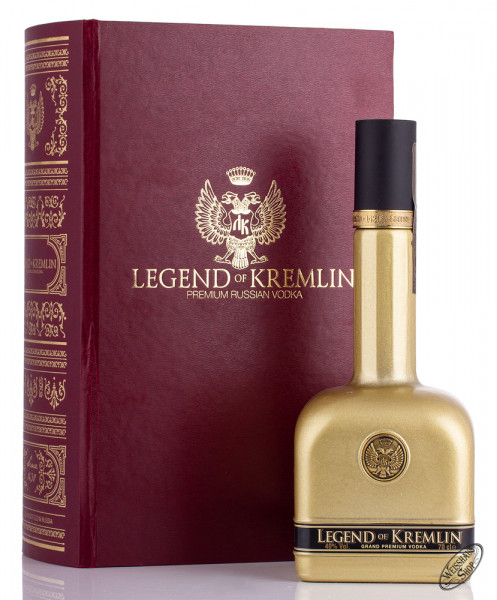 Legend of Kremlin Vodka in Bibel 40% vol. 0,70l