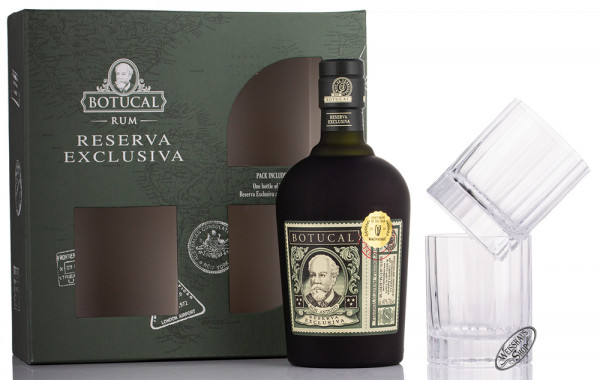 Botucal Reserva Exclusiva Rum Geschenk-Set 40% vol. 0,70l