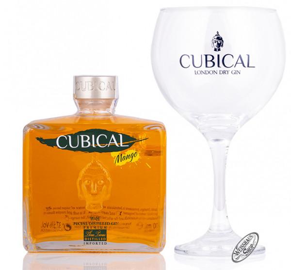 Cubical Premium Special Dry Mango Gin Geschenk-Set Gin 37,5% vol. 0,70l