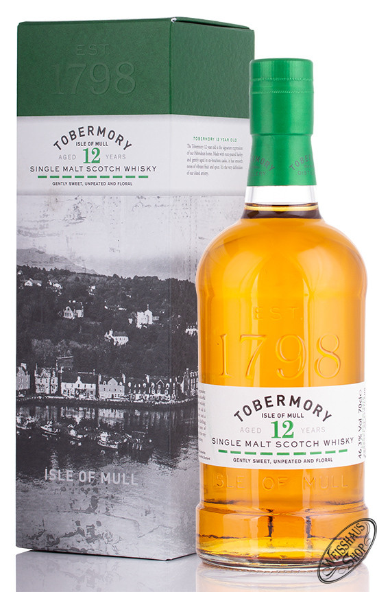 Tobermory 12 YO Whisky 46,3% vol. 0,70l