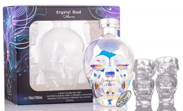 Crystal Head Vodka Aurora Geschenk-Set 40% vol. 0,70l