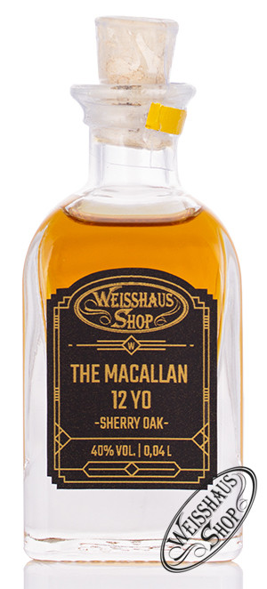 Macallan 12 YO Sherry Oak Triologie Whisky 40% vol. 0,04l Weisshaus Sample