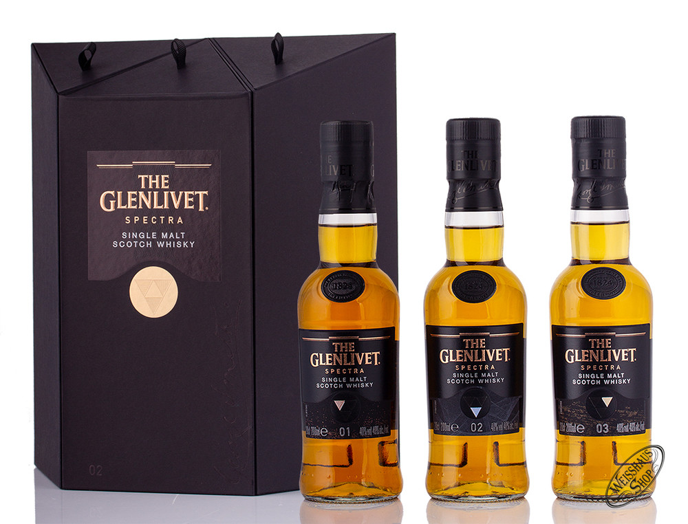 The Glenlivet Spectra 3 x 0,20l Whisky 40% vol. 0,60l