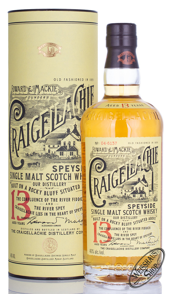 Craigellachie 13 YO Single Malt Whisky 46% vol. 0,70l