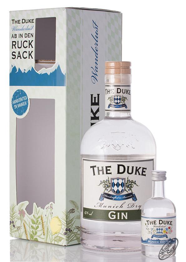 The Duke Munich Dry Gin Geschenk-Set mit Miniatur 46% vol. 0,75l